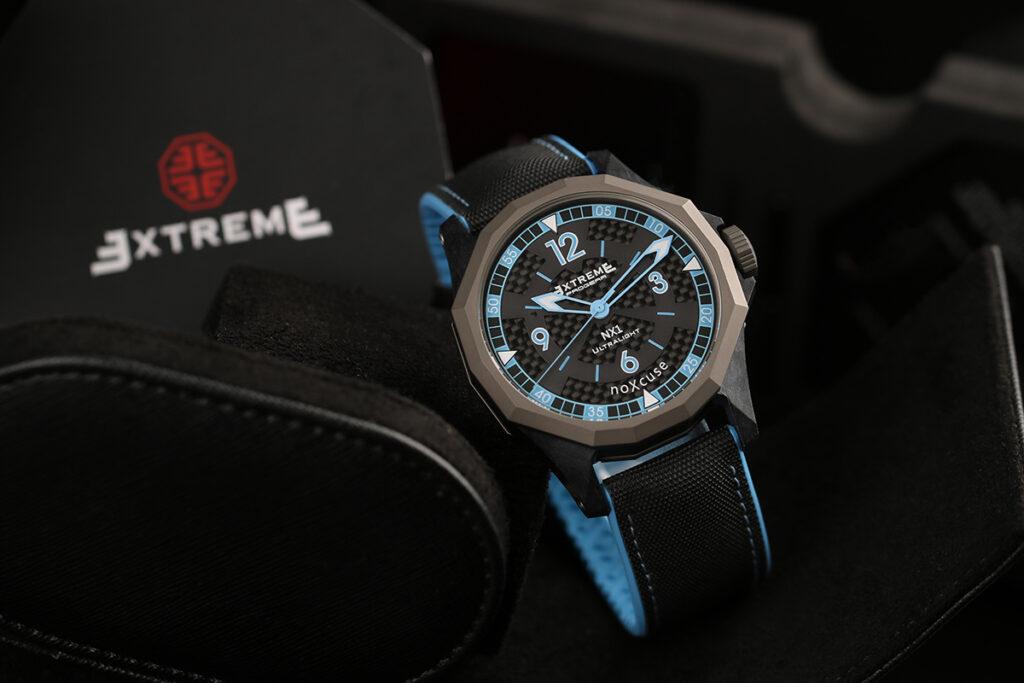 blue quartz watch